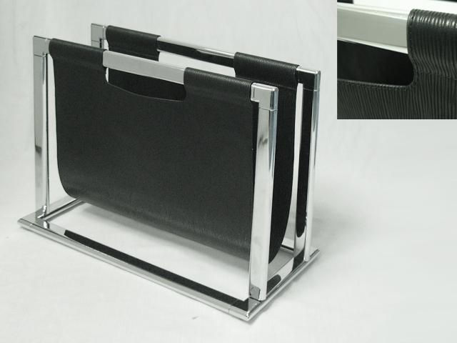 U Shaped Magazine Rack In Black Color