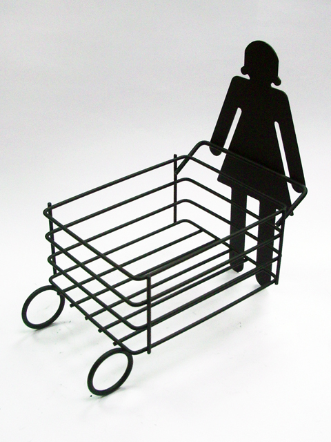 Girl Shaped Small Table Wire Shelf