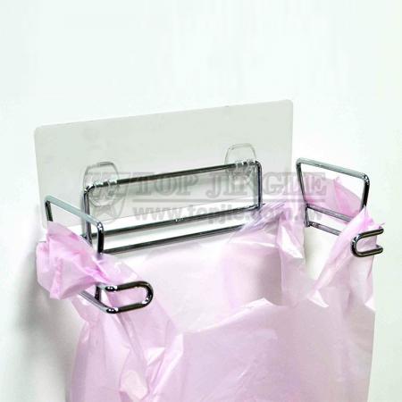 Adhesive Trash Bag Holder