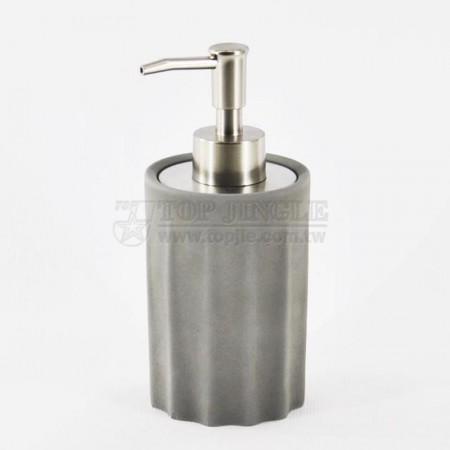 輕水泥圓形皺折造型乳液罐