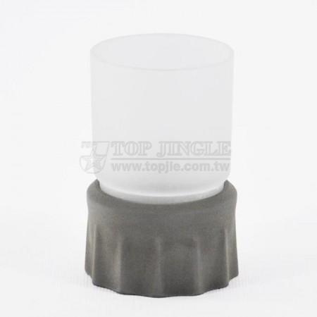 輕水泥圓形皺折造型漱口杯