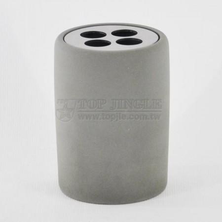 複合式水泥圓柱型牙刷罐