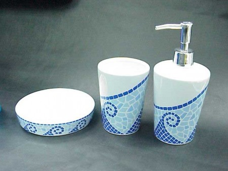Mosaic Printing Bathroom Set