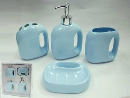 Mavi Saplı Banyo Seti