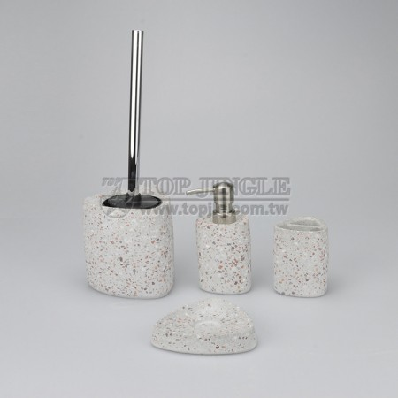 Red Stone Bathroom Accessories