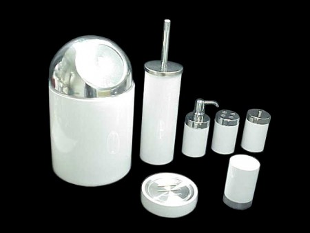 圓柱陶瓷不鏽鋼上蓋衛浴七件組