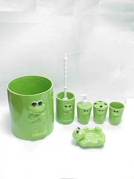 青蛙圖案陶瓷衛浴六件組