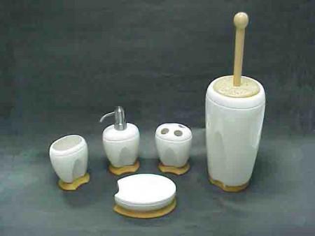 橢圓齒狀造型衛浴五件組