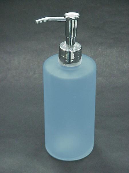 霧藍色無圖案圓柱形乳液罐