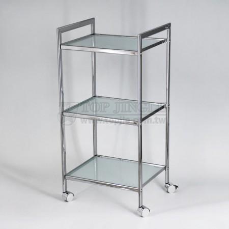 橢圓管方框造型三層玻璃承板車
