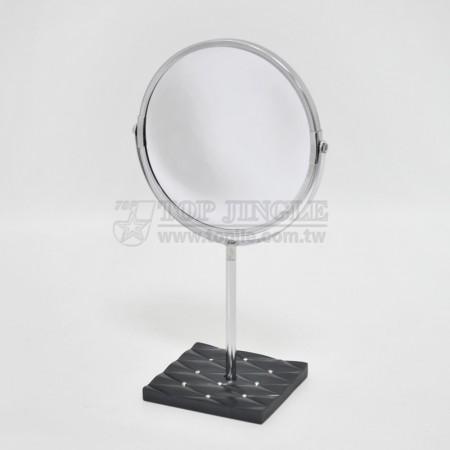 黑色菱格紋底座立鏡