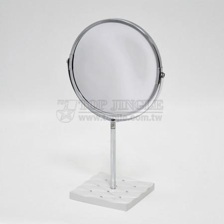 白色菱格紋底座立鏡