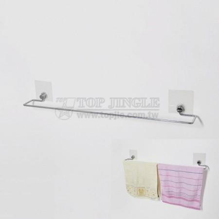 自黏系列鐵線毛巾架(大)