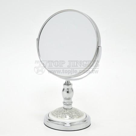 圓造型立鏡-底碎玻璃