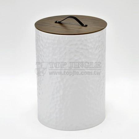 大垂花造型高圓髒衣桶,活動木蓋