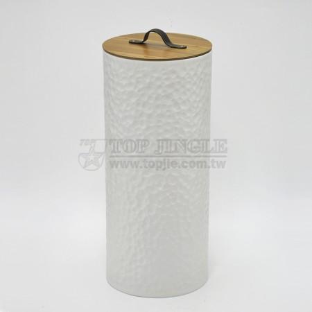 小垂花造型高圓髒衣桶,活動木蓋