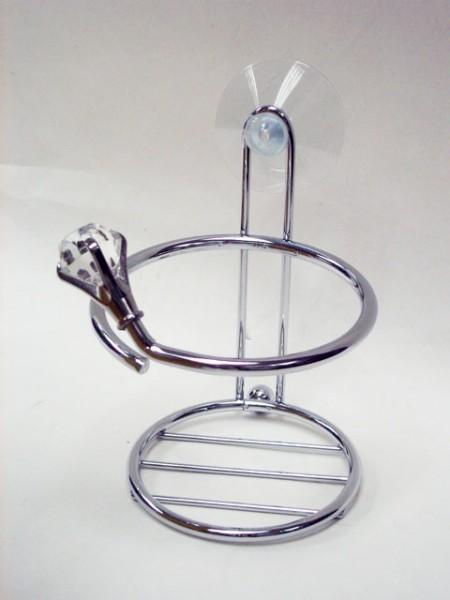 透明鑽石造型吸盤杯架,漱口杯