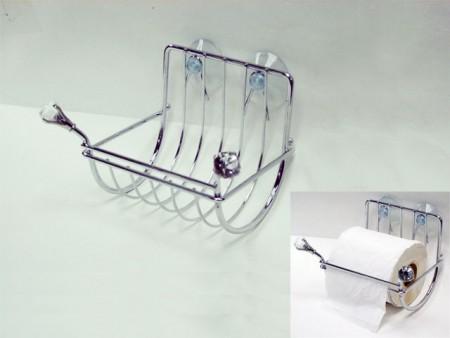 鑽石造型衛生紙捲吸盤架