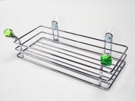 鑽石造型長方置物吸盤架