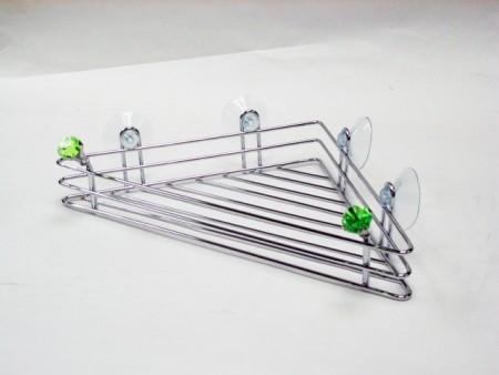 鑽石造型三角形置物吸盤架