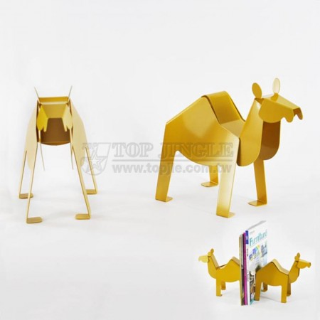 Yellow Camel Shape Bookends