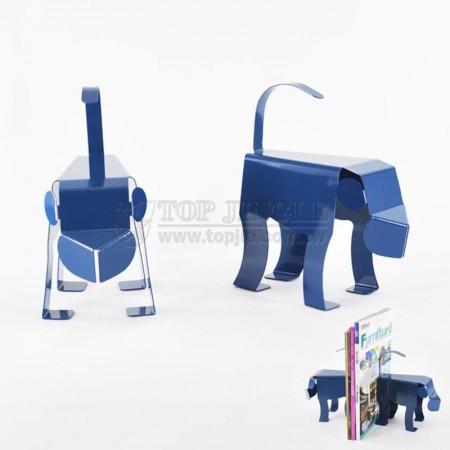 Blue Monkey Shape Bookends