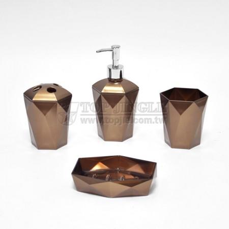 古銅色六角造型外噴漆衛浴四件組