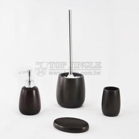 深咖啡色酒桶造型系列衛浴四件組
