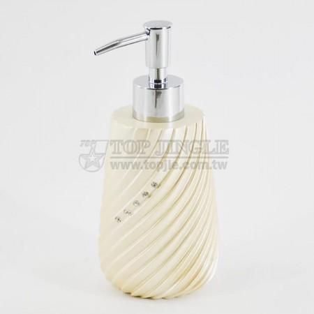 珍珠金圓錐螺旋鑲鑽造型乳液罐