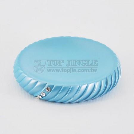 珍珠藍圓錐螺旋鑲鑽造型肥皂盤
