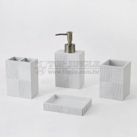 白色長方磚塊系列衛浴四件組