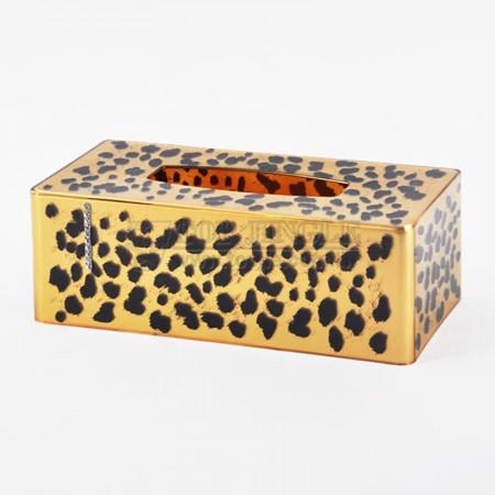 珍珠咖啡長方形鑲鑽系列紙巾盒