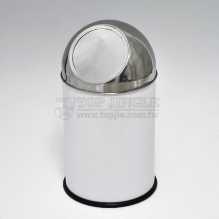 小圓垃圾桶, 圓頂推蓋