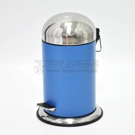 寬底子彈形不鏽鋼蓋鐵烤漆腳踏桶