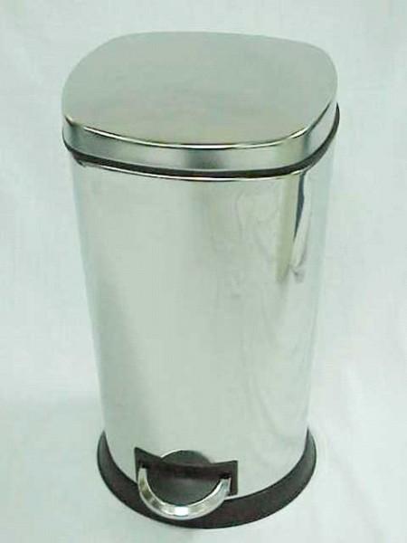 方弧型倒錐圓底不鏽鋼鏡面腳踏垃圾桶