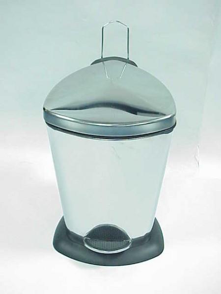 不鏽鋼鏡面盾形腳踏垃圾桶