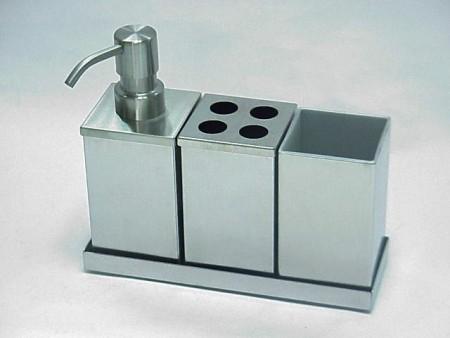 不鏽鋼四方形衛浴四件組
