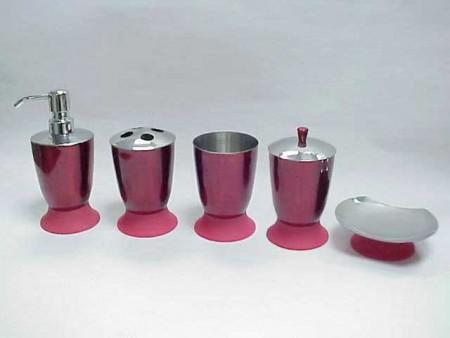 冠軍杯造型不鏽鋼烤金屬色衛浴五件組