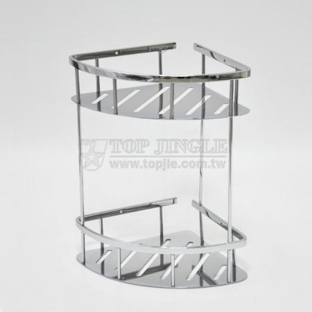 不鏽鋼雙層扇型鎖壁架