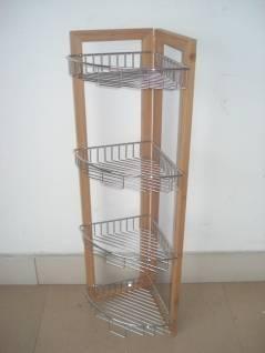 中碳竹四層鐵線籃架