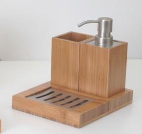 竹製三件衛浴組