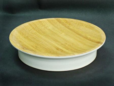全竹製雙色橢圓造型肥皂盤