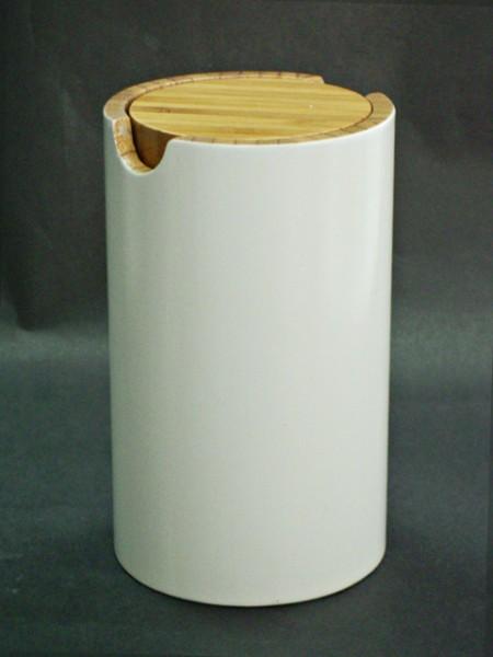 竹製圓造型棉花罐
