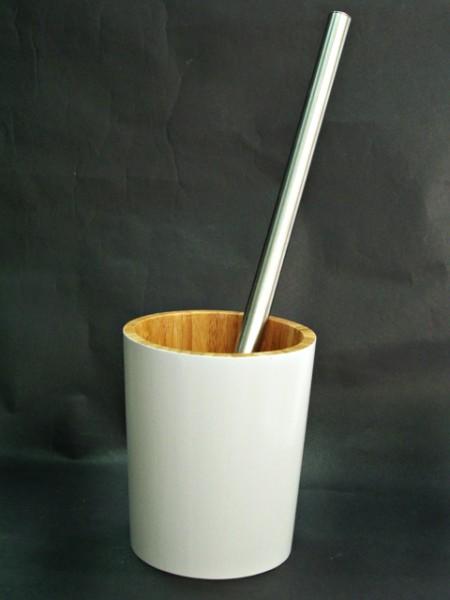 竹製圓造型馬桶刷