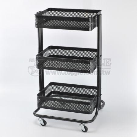 3-Tier Basket Trolley