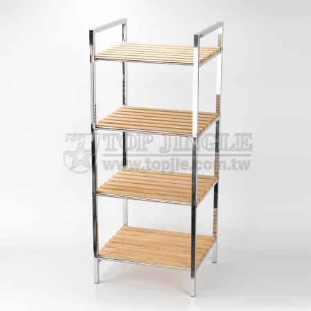4-х уровневая деревянная полка для хранения