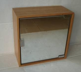 Wall Bamboo Mirror Cabinet