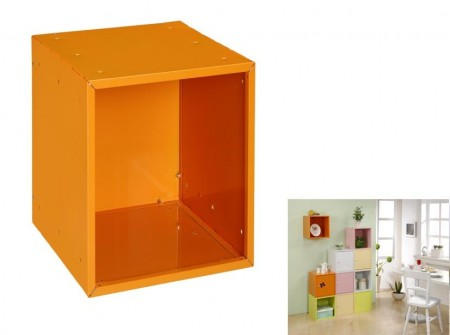 Orange Open Cube Storage