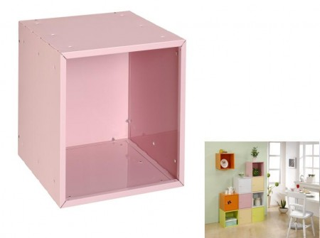 Pink Open Cube Storage