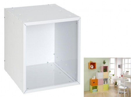 White Open Cube Storage
